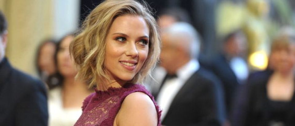 Scarlett Johansson arriving at the 83rd Annual Academy Awards in February 2011 in Hollywood. (Photo by John Shearer/Getty Images)