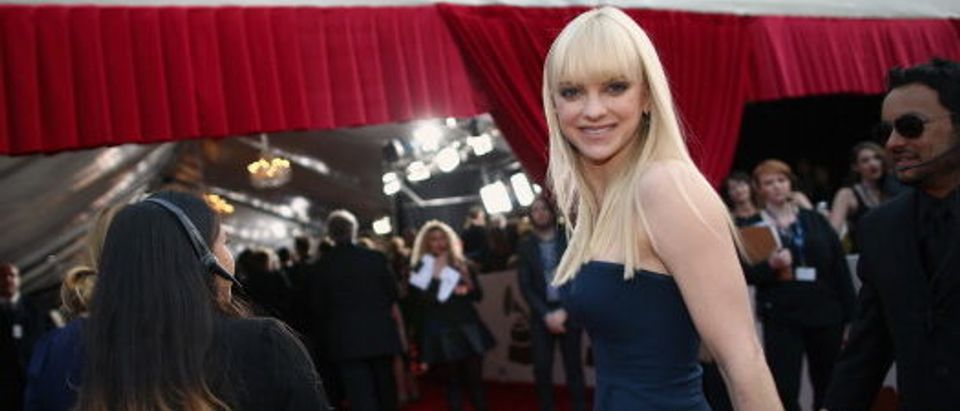 Anna Faris attending the 56th GRAMMY Awards at Staples Center in January 2014 in Los Angeles. (Photo by Christopher Polk/Getty Images for NARAS)
