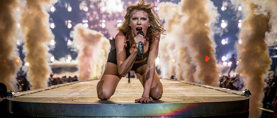 Taylor Swift performs onstage during The 1989 World Tour Live In Los Angeles at Staples Center in August 2015 in Los Angeles. (Photo by Christopher Polk/Getty Images for TAS)
