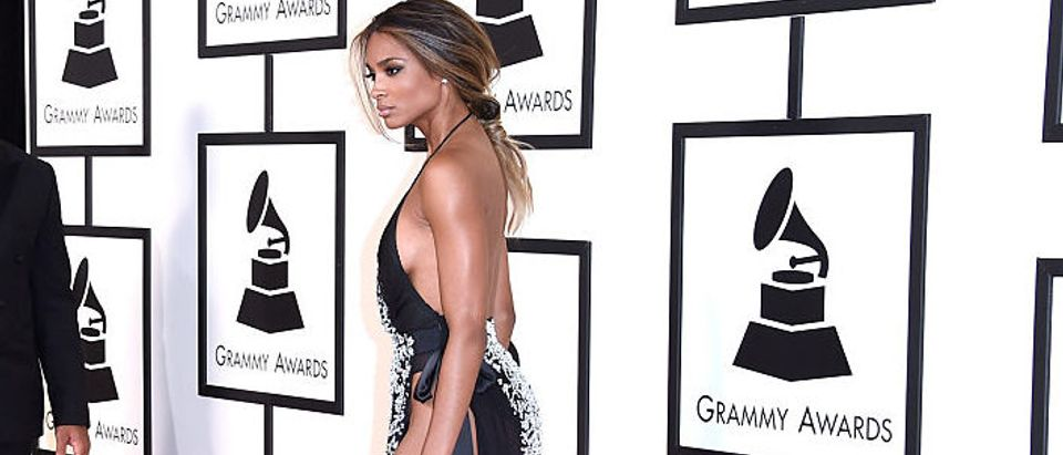 Ciara attending The 58th GRAMMY Awards at Staples Center in February 2016 in Los Angeles. (Photo Credit/Getty Images)