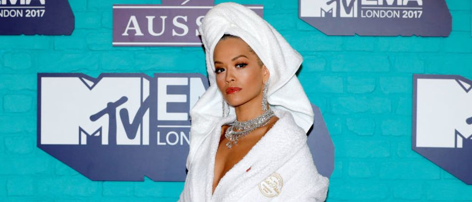 Rita Ora attending the MTV EMAs 2017 on November 12, 2017 in London, England. (Photo by Andreas Rentz/Getty Images for MTV)