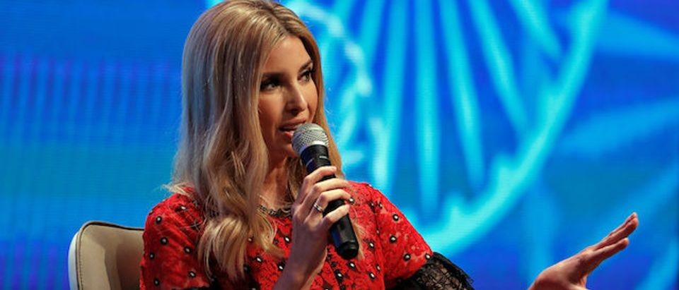 Ivanka Trump, daughter of U.S. President Donald Trump, during the Global Entrepreneurship Summit (GES) in Hyderabad
