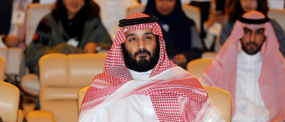 Saudi Crown Prince Mohammed bin Salman, attends the Future Investment Initiative conference in Riyadh