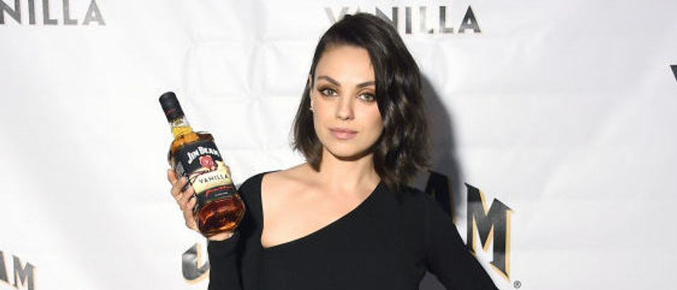 Global brand partner Mila Kunis attends the official launch party for Jim Beam® Vanilla, the newest flavored product from Jim Beam® Bourbon, on Monday, September 25, 2017 in New York City. (Photo by Michael Loccisano/Getty Images for Jim Beam)