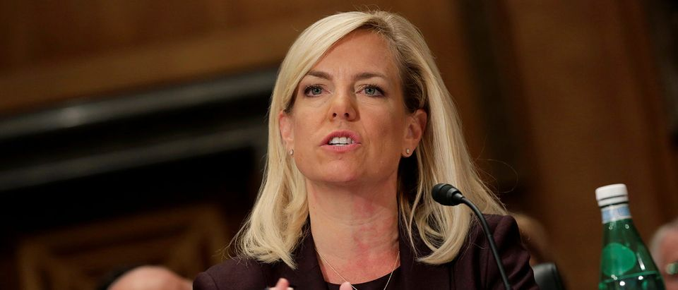 Kirstjen Nielsen testifies on her nomination to be secretary of the Department of Homeland Security in Washington