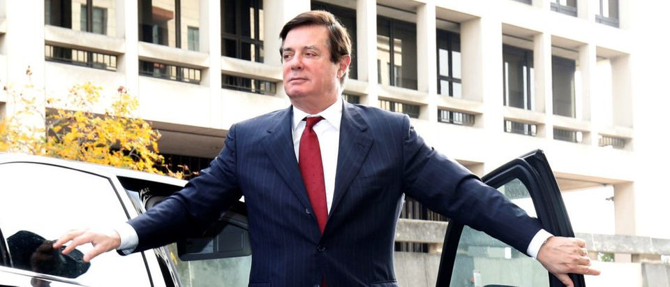 Paul Manafort, former campaign manager for U.S. President Donald Trump arrives for a bond hearing at U.S. District Court in Washington