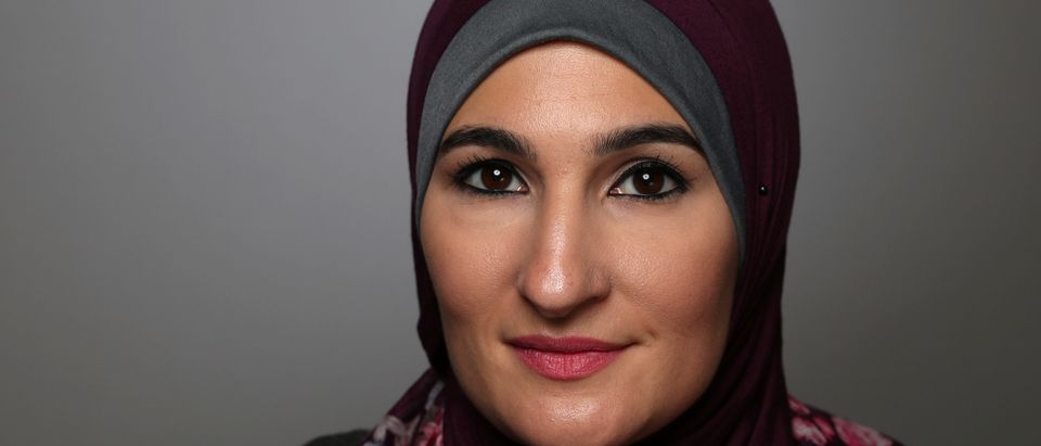 Women's March National Co-Chair Linda Sarsour poses for a portrait at the Women's Convention in Detroit, Michigan, U.S. October 29, 2017. Picture taken October 29, 2017. REUTERS/Lucy Nicholson