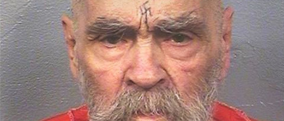 "Charles Manson, the cult leader who sent followers known as the ""Manson Family"" out to commit gruesome murders, currently being held at California State Prison, Corcoran, California, U.S. is seen in this August 2017 photo released on November 16, 2017. Courtesy California Department of Corrections and Rehabilitation/Handout via REUTERS"