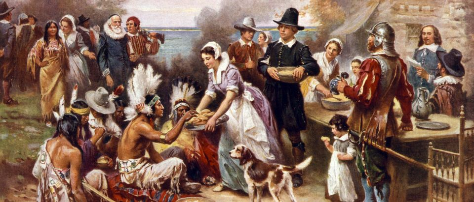 ThanksgivingPilgrimsNativeAmericans
