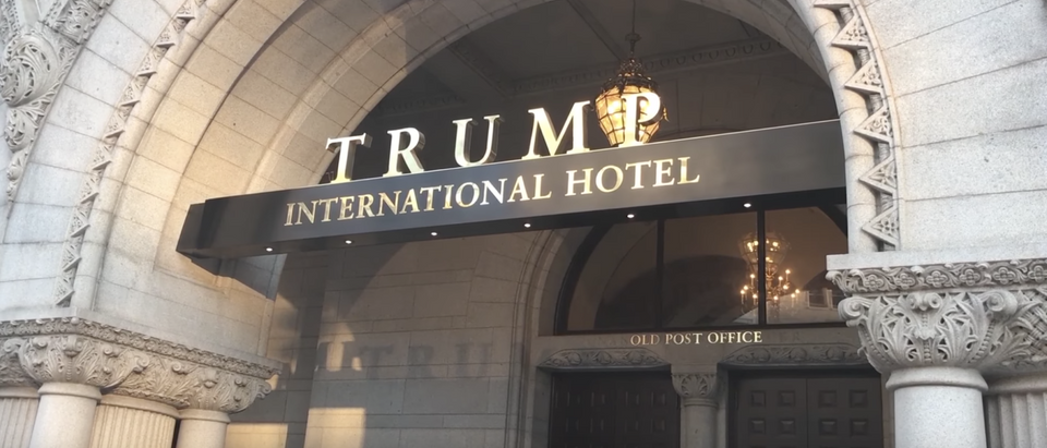 The Trump International Hotel in Washington. (YouTube screenshot/Ryan O'Malley.)