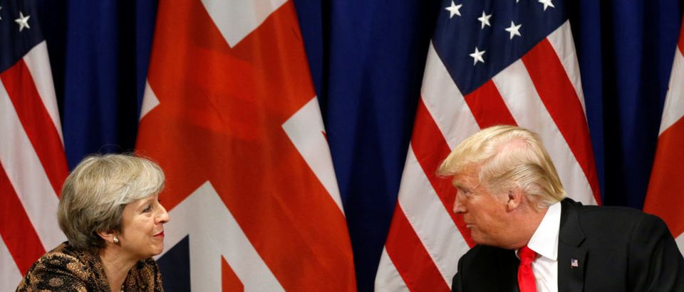 Donald Trump meets with Theresa May in New York