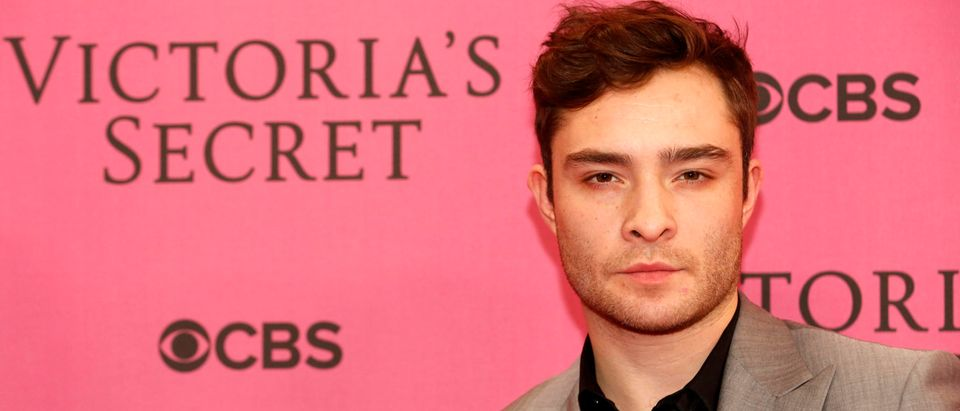 Ed Westwick arrives for the 2014 Victoria's Secret Fashion Show in London