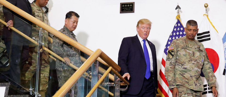 Trump arrives in South Korea for the second stop of his five-country trip to Asia