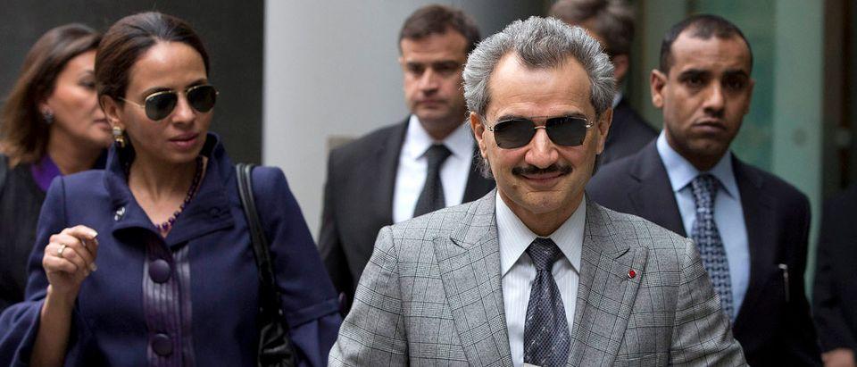 Prince Alwaleed bin Talal leaves the High Court in London