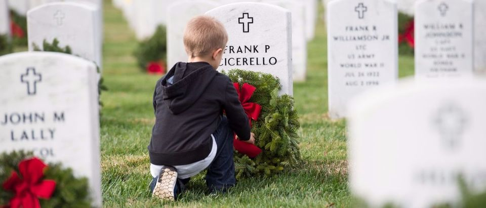 child at Arlington National Cemetery Getty Images/Molly Riley