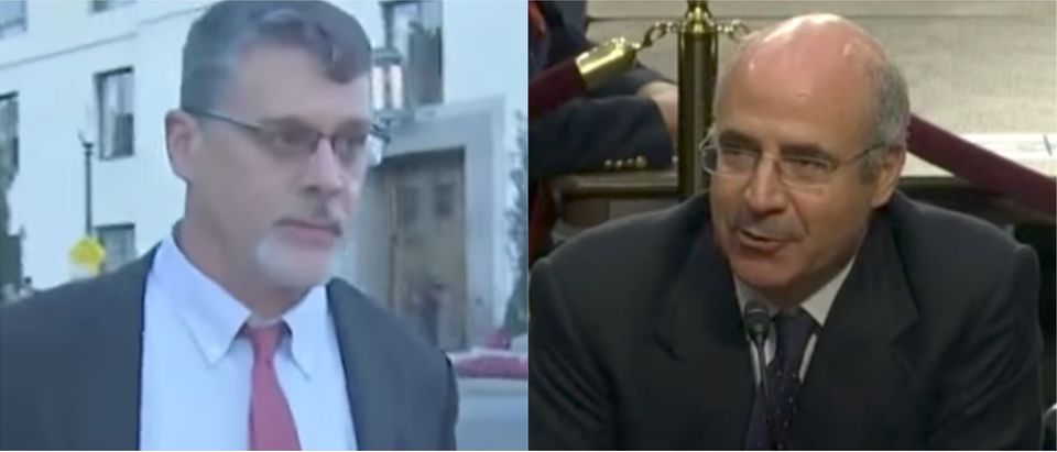Glenn Simpson (left) and Bill Browder (right). Youtube screen grab