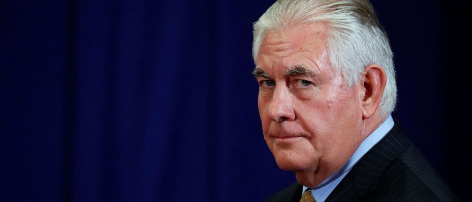 U.S. Secretary of State Rex Tillerson attends as U.S. President Donald Trump holds a bilateral meeting with India's Prime Minister Narendra Modi alongside the ASEAN Summit in Manila