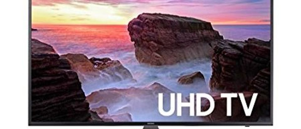Normally $448, this 40-inch 4K Ultra HD Smart LED TV is 29 percent off today (Photo via Amazon)
