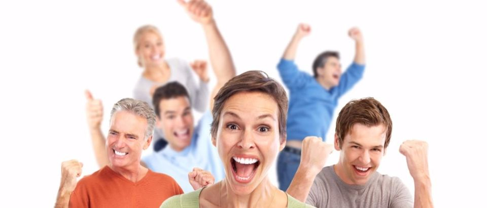 very excited white people Shutterstock/kurhan