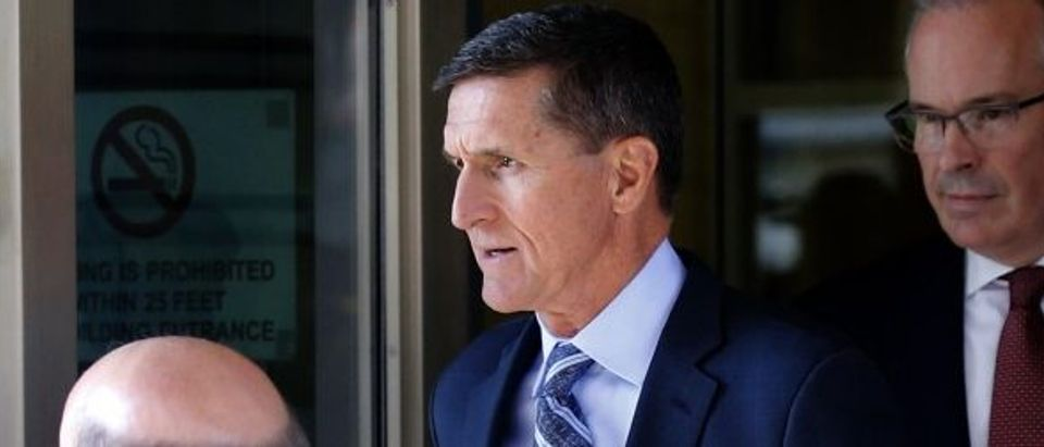 Former U.S. National Security Adviser Flynn departs after plea hearing at U.S. District Court in Washington