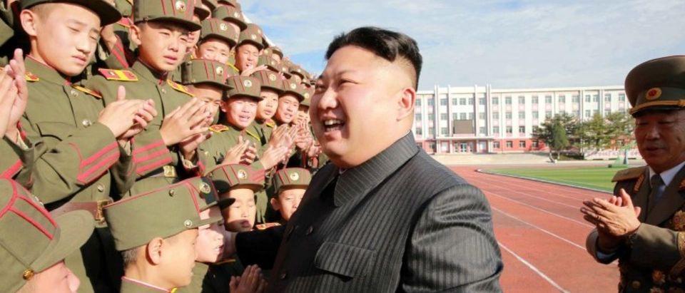 FILE PHOTO: North Korea's leader Kim Jong Un visits the Mangyongdae Revolutionary Academy on its 70th anniversary