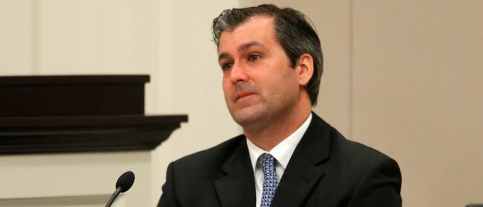 FILE PHOTO: Former North Charleston police officer Slager looks on during testimony in his murder trial at the Charleston County court in Charleston
