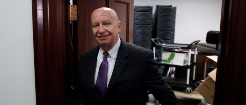 Rep. Kevin Brady (R-CA) departs after a closed conference meeting on Capitol Hill in Washington