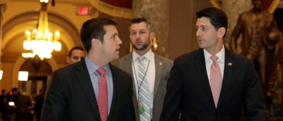 House Speaker Paul Ryan (R-WI) walks on Capitol Hill in Washington