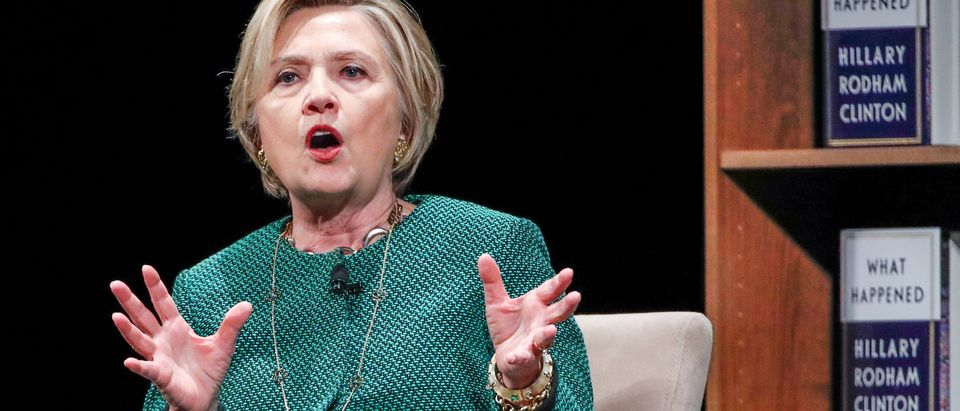 Former U.S. Secretary of State Hillary Clinton speaks in Chicago