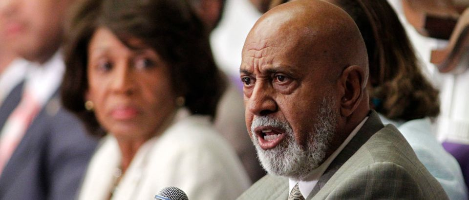 U.S. Rep.Alcee Hastings speaks at a U.S. Congressional Black Caucus 'Town Meeting' at Mt. Hermon AME church in Miami Gardens