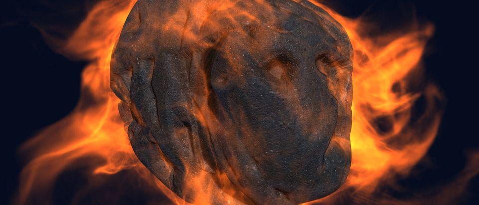 Burning Asteroid