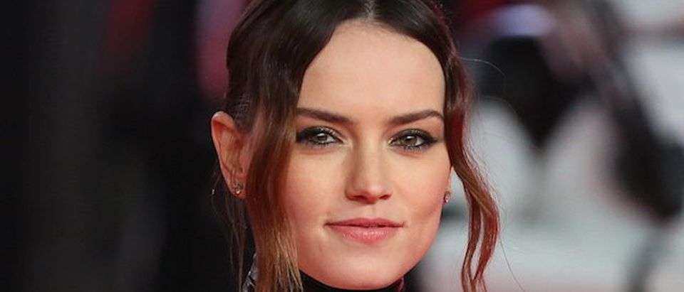Daisy Ridley attends Star Wars: The Last Jedi - European Premiere in London