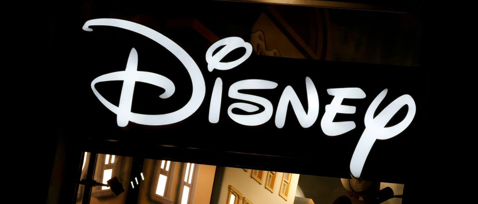 FILE PHOTO: The logo of the Disney store on the Champs Elysee is seen in Paris