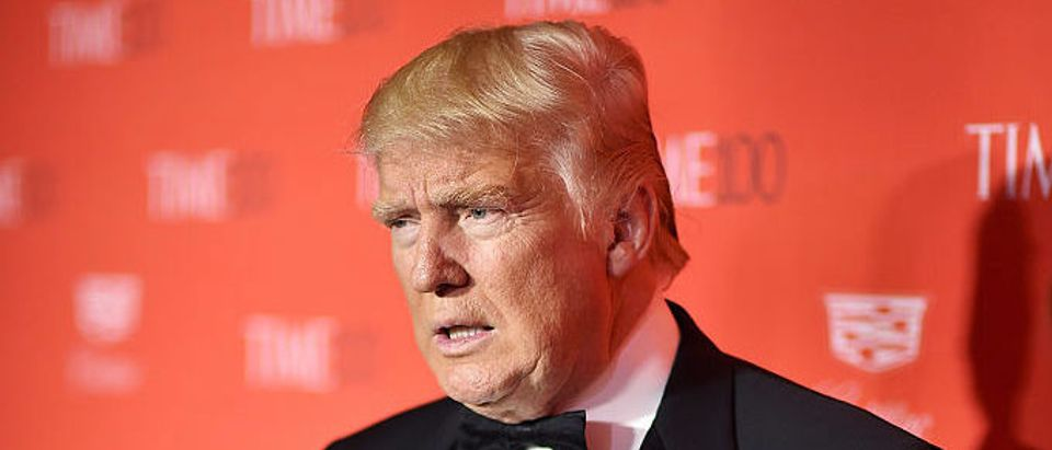 NEW YORK, NY - APRIL 26: Donald Trump attends 2016 Time 100 Gala, Time's Most Influential People In The World red carpet at Jazz At Lincoln Center at the Times Warner Center on April 26, 2016 in New York City. (Photo by Dimitrios Kambouris/Getty Images for Time)