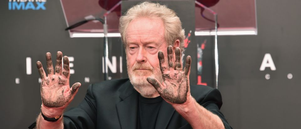 Ridley Scott attends his hand and footprint ceremony at TCL Chinese Theatre IMAX on May 17, 2017 in Hollywood, California. (Photo by Alberto E. Rodriguez/Getty Images)