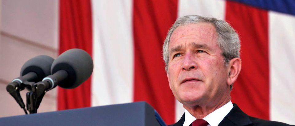 President Bush Attends Memorial Day Ceremony At Arlington