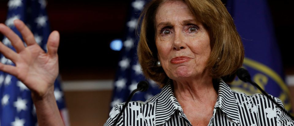 House Minority Leader Nancy Pelosi (D-CA) speaks at a weekly press conference