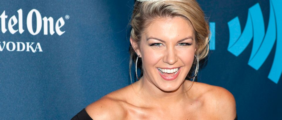 Miss America Mallory Hagan arrives for the 24th Annual GLAAD Media Awards in New York