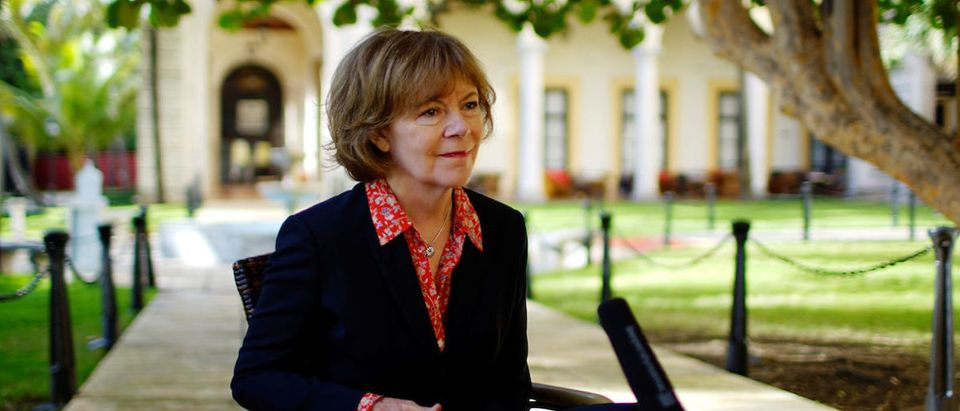 Minnesota Lieutenant Governor Tina Smith speaks during an interview at a Hotel in Havana
