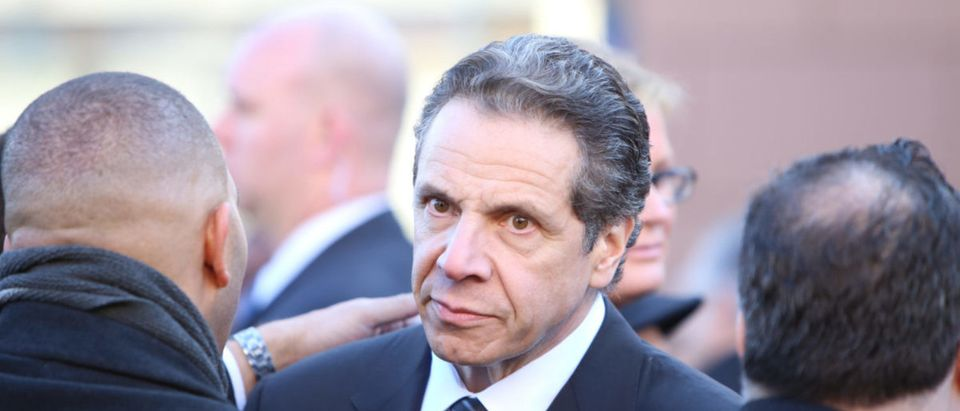 NY GOV Andrew Cuomo attends NYPD Funeral In December 2014