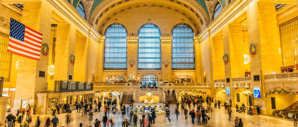 NYC Grand Central Station removes kissletoe