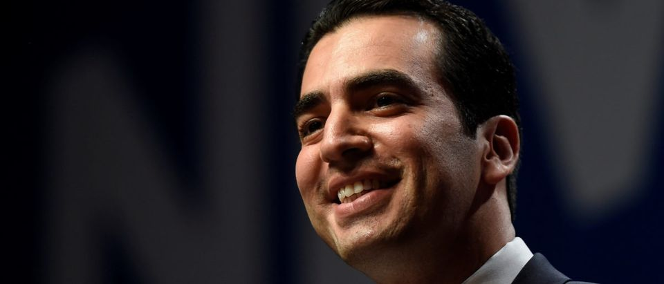 Ruben Kihuen, candidate for United States Representative, NV 4th District speaks at the Nevada state democratic election night event in Las Vegas, Nevada