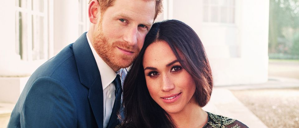 One of two official engagement photos released on December 21, 2017 by Kensington Palace of Prince Harry and Meghan Markle taken by Alexi Lubomirski at Frogmore House in Windsor, Britain. REUTERS/Alexi Lubomirski/Pool