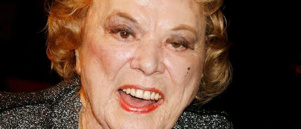 """Actress Rose Marie poses as she arrives at a special screening of the film """"Sweeney Todd The Demon Barber of Fleet Street"""" in Hollywood"""