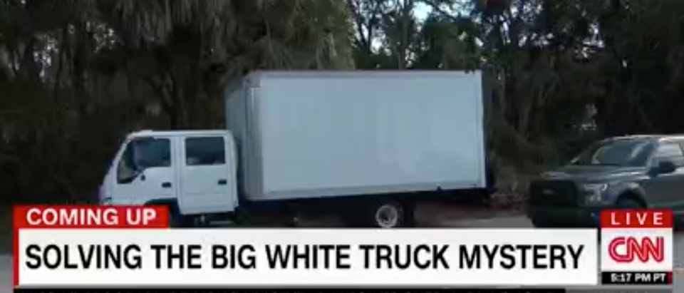CNN covered the white truck outside of Trump golf course. Youtube screen grab