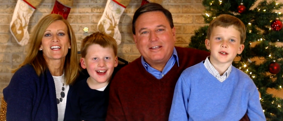 """Indiana Representative and current U.S. Senate candidateTodd Rokitais releasing a campaign ad that pokes fun at people who refuse to say """"Merry Christmas.""""(Photo: Screen Shot/Youtube/Tom Rokita/Senate Campaign Ad)"""