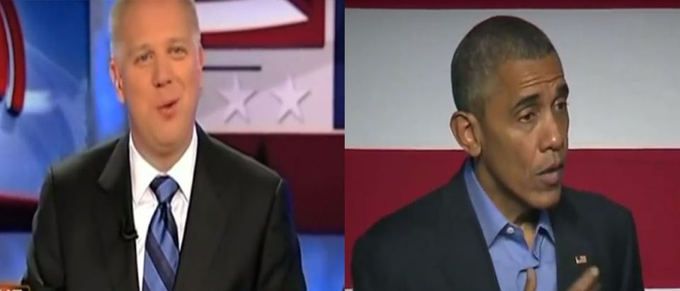 obama beck (Youtube screen shots / mediamatters4america, The Daily Conversation)
