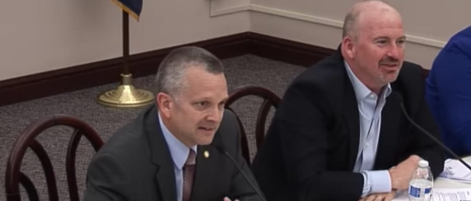 YouTube screenshot/ Pa. House Video/ Metcalfe Doesn't Like to be Touched