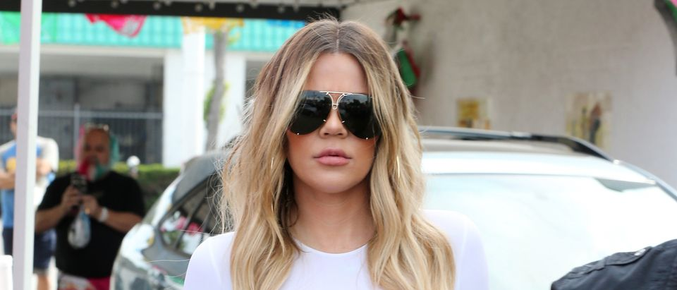 Khloe Kardashians filming Keeping up with the Kardashian for cinco de mayo at Casa Vega in Los Angeles