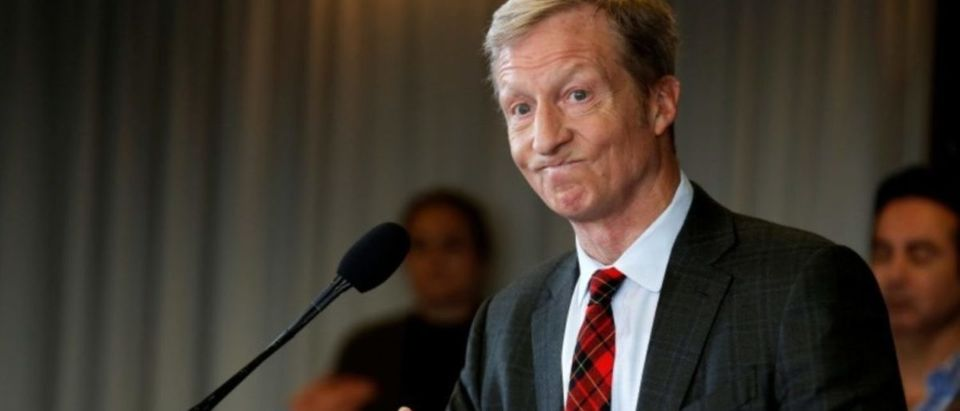 Tom Steyer, a hedge fund manager and a prominent Democratic fundraiser who has mounted a high-profile advertising campaign advocating the impeachment of U.S. President Donald Trump, holds a news conference to announce plans for his political future, in Washington, U.S., January 8, 2018. REUTERS/Joshua Roberts | Steyer Doesnt Know Why Dems Ignore Him